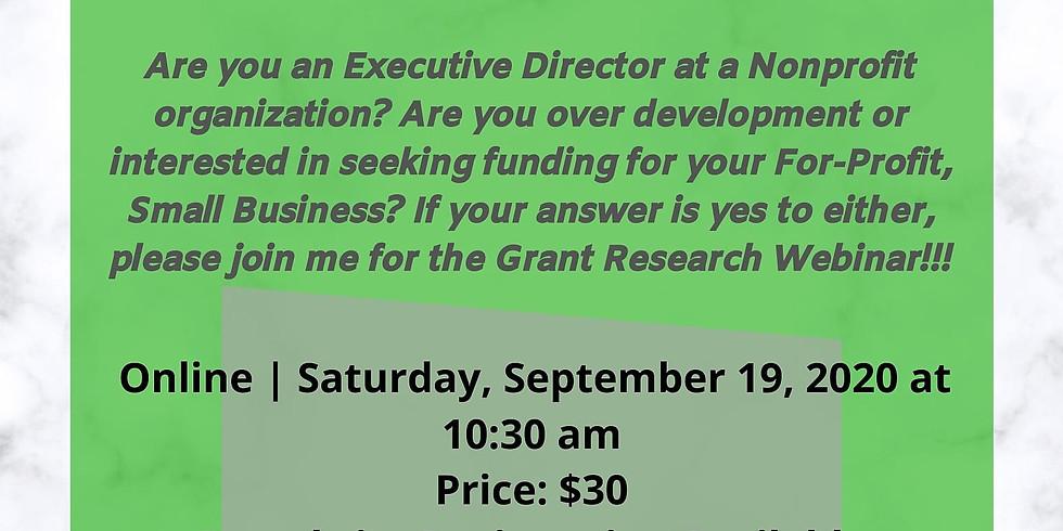 Grant Research Webinar