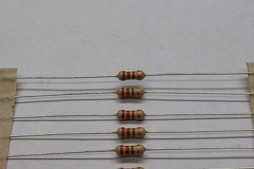 Resistor 1/4W(CP) | 2K2 | 5% | T/B | 100pçs