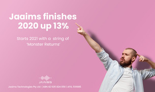 Jaaims finishes 2020 up +13%, starts 2021 with a string of 'Monster Returns'
