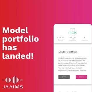 Model Portfolio has landed at Jaaims!