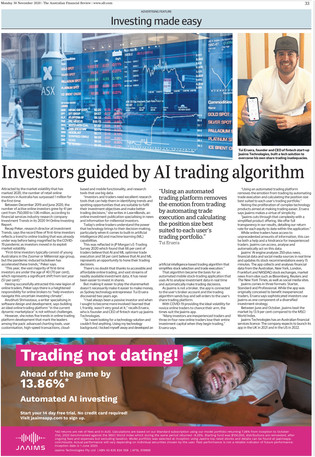 Investors Guided by AI trading Algorithm