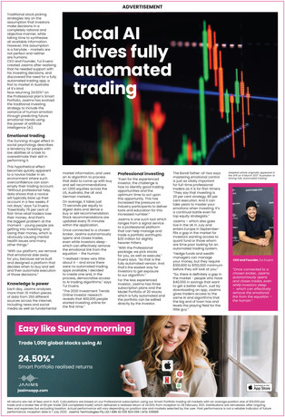 The Sydney Morning Herald: Local AI driving fully automated trading