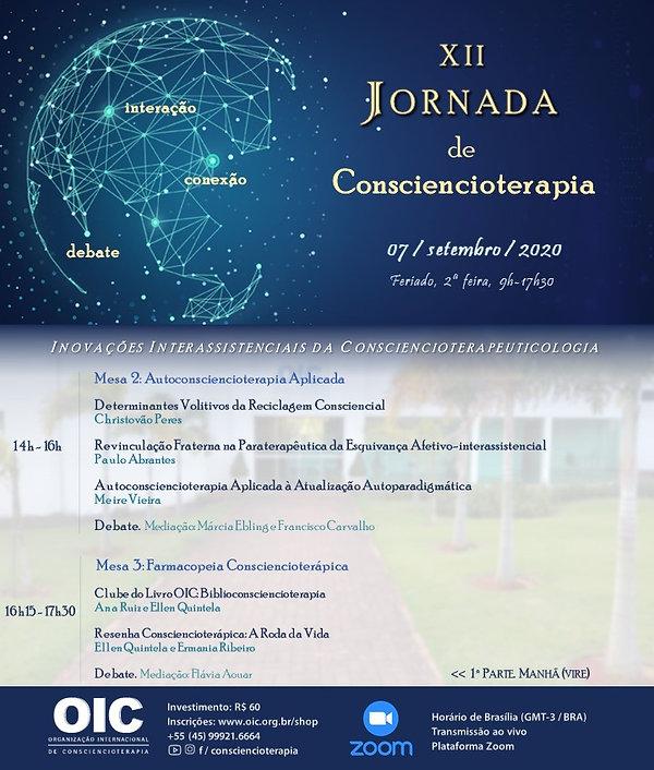 Jornada de Consciencioterapia 2020. Tard