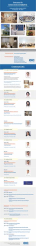 Semana da Consciencioterapia 2019. INTEG