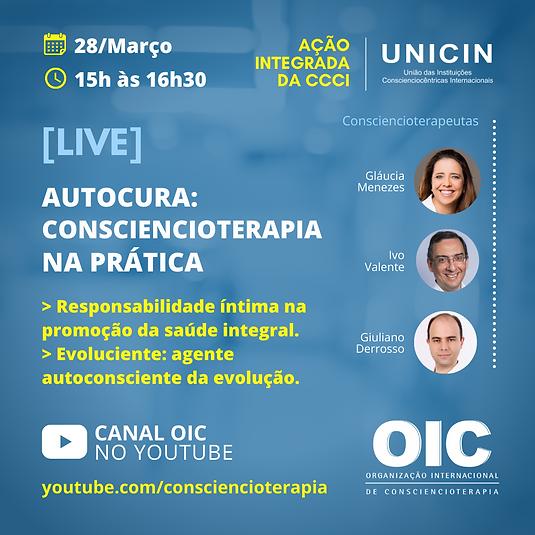 LIVE OIC - Ação Integrada CCCI. Março 20