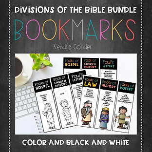 Divisions of the Bible Bundle Preview.pn