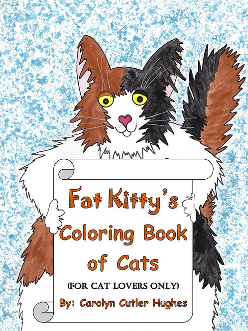 Fat Kitty Coloring Book