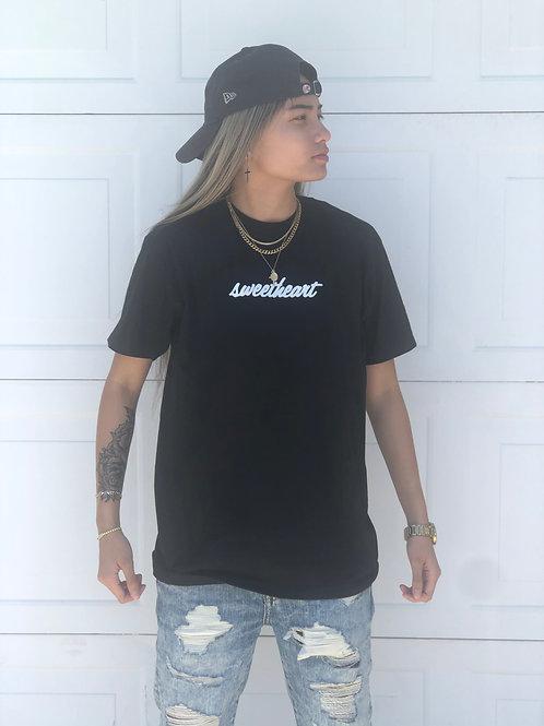Short Sleeve Black Sweetheart T-Shirt