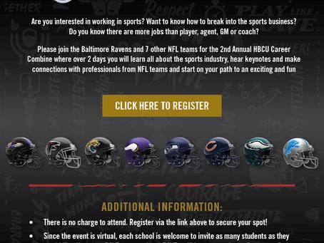 Baltimore Ravens Virtual HBCU 2021 Career Combine Invite