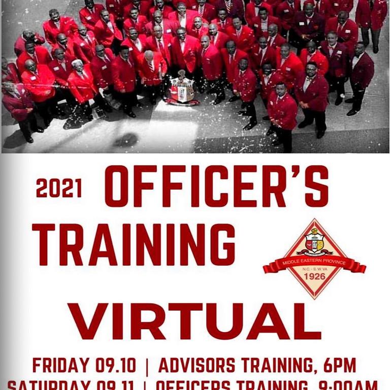 2021 Officer's Training Day 1 Advisors Workshop