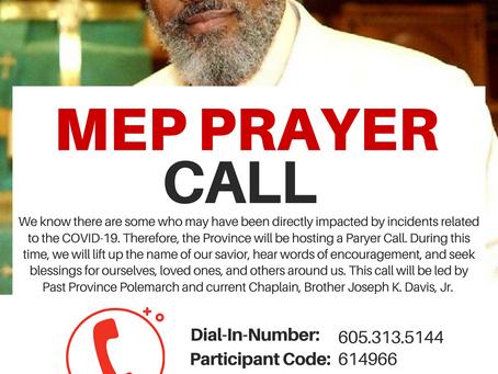 MEP Prayer Call - September 15th