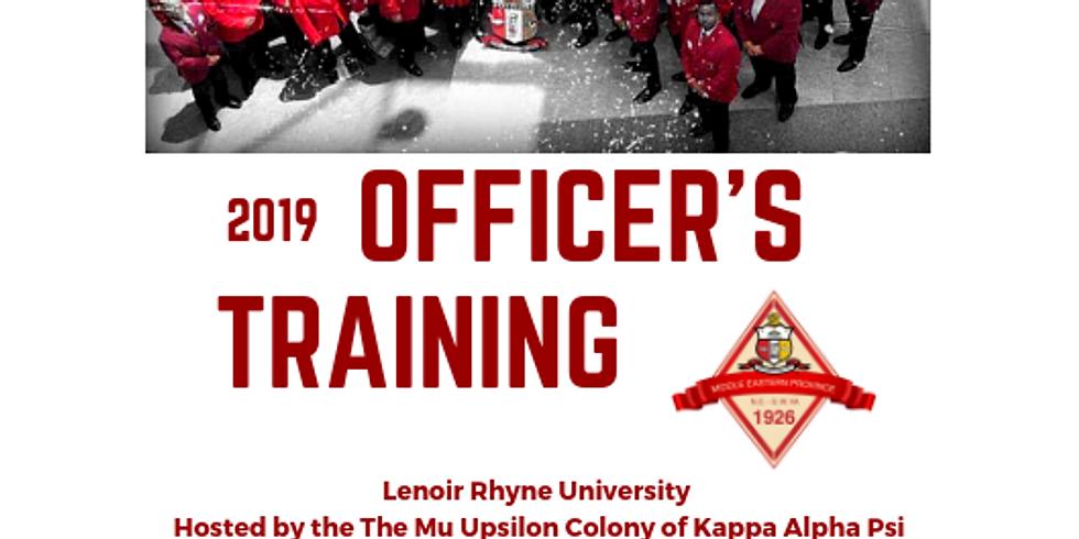 2019 MEP Officer's Training