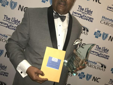 Brother Michael Page (Polemarch Durham Alumni) receives 2018 Lamplighter Lifetime Achievement Award