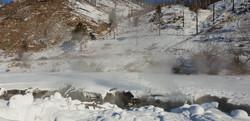 Yuruu Hot Spring in Winter