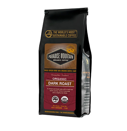 Dark Roast Pardise Mountain Coffee - Organic