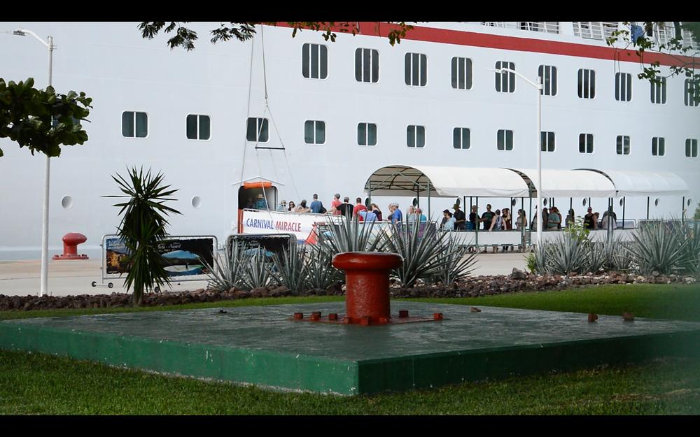 Guests going back onboard in Puerto Vallarta