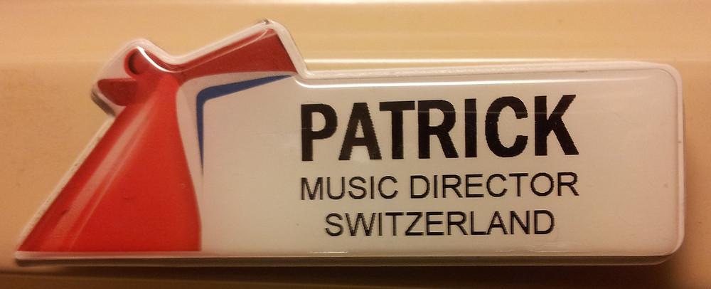 Musical Director Patrick