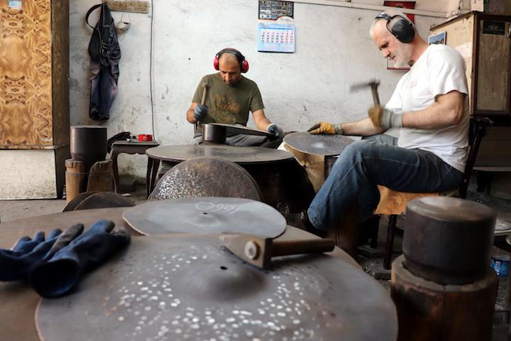 Hammering Cymbals