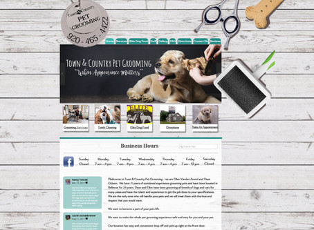 Town & Country Pet Grooming Website Design