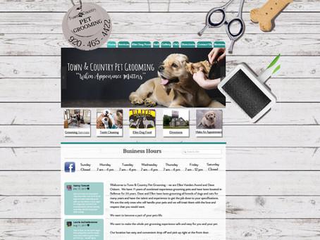 Town & Country Pet Grooming Website Design