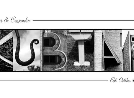 """""""Kubiak"""" Letter Art"""