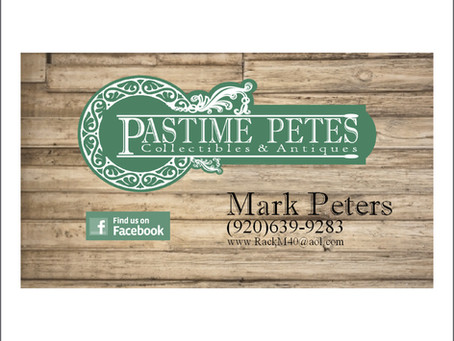 Pastime Petes Business Card Design