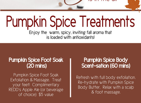 The Day Spa Pumpkin Spice Treatment Inhouse Advertising