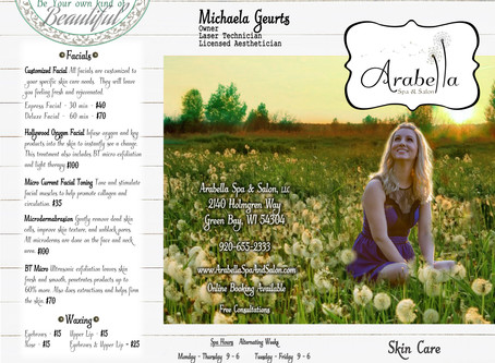Arabella Spa & Salon Tri-Fold Brochure Design