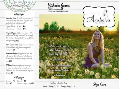 Arabella Spa & Salon Tri-Fold Brochure Design