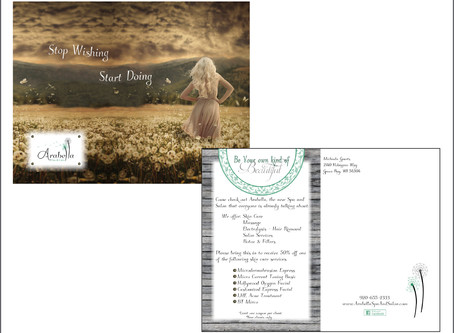 Arabella Spa & Salon Postcard Design