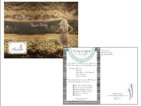 Arabella Spa & Salon Postcard Design
