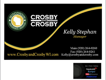 Crosby & Crosby Wisconsin Business Card Design
