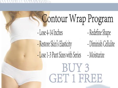 The Day Spa M'lis Contour Wrap Program Inhouse Advertising