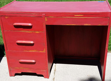 Distressed Farmhouse Red Desk