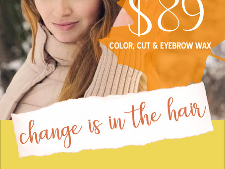 Serenity Spa & Salon Fall Hair Special Advertising