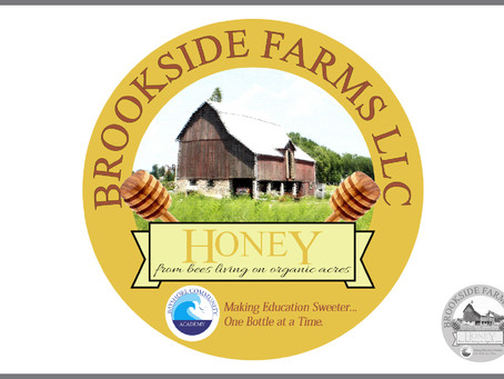 Brookside Farms LLC Honey Label Logo