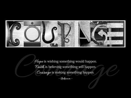 """""""Courage"""" Letter Art"""