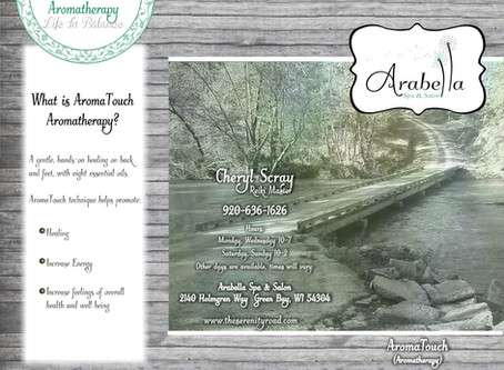 Arabella Spa & Salon Aromatherapy Brochure Design