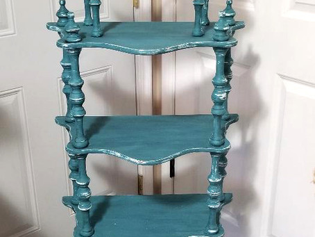 Distressed Tidal Pond 5 Tier Shelf