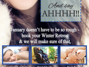 The Day Spa January Winter Retreat Inhouse Advertising