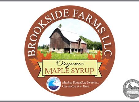 Brookside Farms LLC Maple Syrup Label Logo