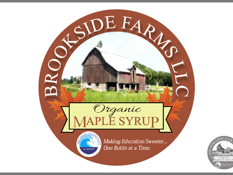 Brookside Farms LLC Maple Syrup Label Logo