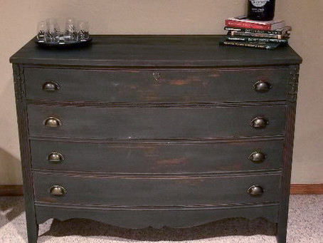 Distressed Charcoal Dresser