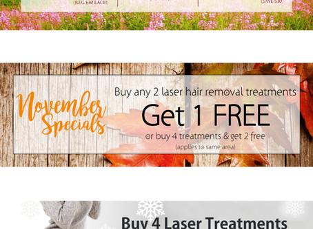 Arabella Spa & Salon Website Banner Advertising