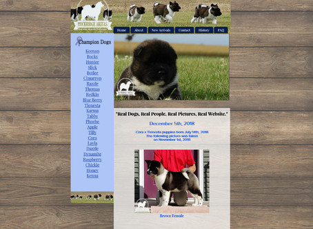 Buckridge Akitas Website Design