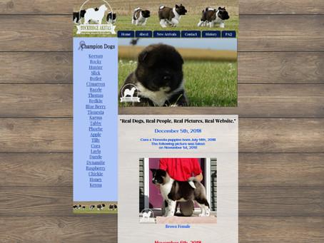 Buckridge Akitas Website Design