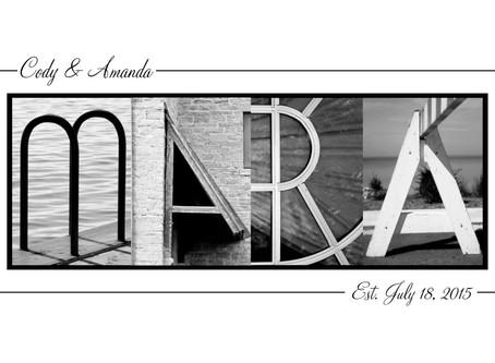 """""""Mara"""" Letter Art"""