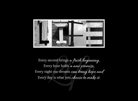 """""""Life"""" Letter Art"""
