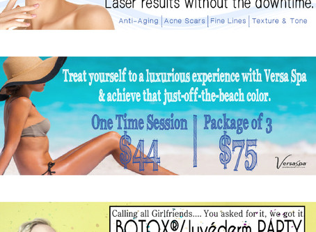 Serenity Spa & Salon Website Banner Advertising