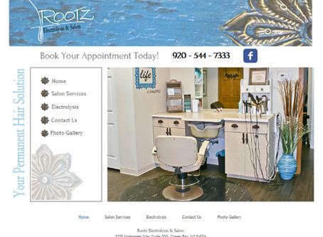 Rootz Electrolysis & Salon Website Design